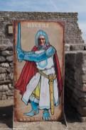 podsumowanie maja - tablica z wizerunkiem rycerza