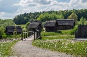 stara drewniana osada