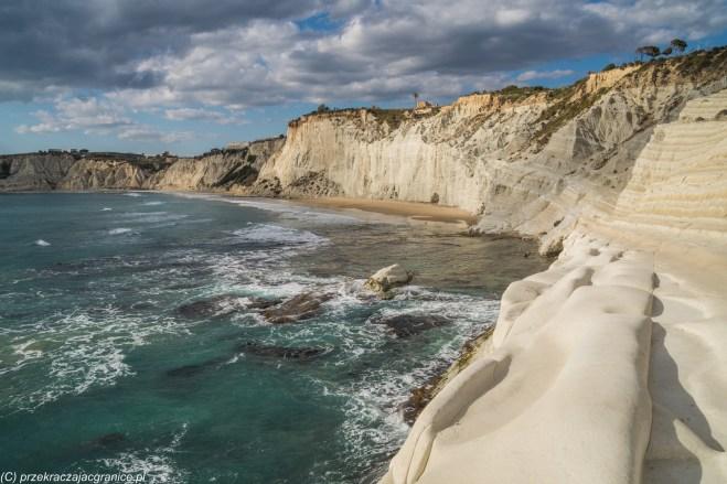 schody tureckie - realmonte skaliste wybrzeże morskie