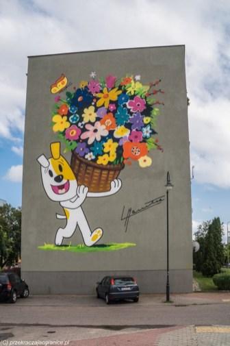 mural reksio blok sztuka streetart