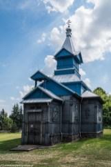 kościół prawosławny niebieski na cmentarzu suwałki