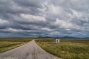 droga przez pustkowia natura chmury