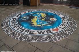 sztuka uliczna jednorożce w okręgu