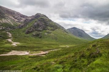 panorama gór z widocznym pieszym szlakiem