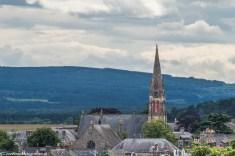 Katedra w Elgin - widok z wieży