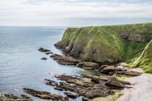 Dunnottar Castle - plaża