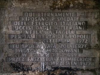 podsumowanie listopada - biała podlaska cmentarz żołnierzy włoskich napis