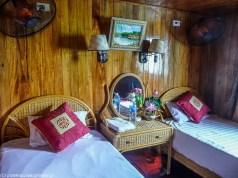północny wietnam - pokój na statku ha long bay