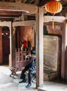 środkowy wietnam - hoi an most japoński wnętrze strażnik