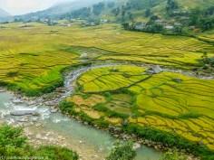 północny wietnam - sa pa krajobraz tarasy ryżowe