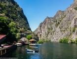 okolice skopje - kanion matka woda góry łodzie relaks