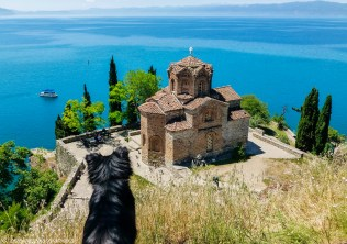 ochryda - cerkiew św jana teologa kaneo krajobraz macedonia