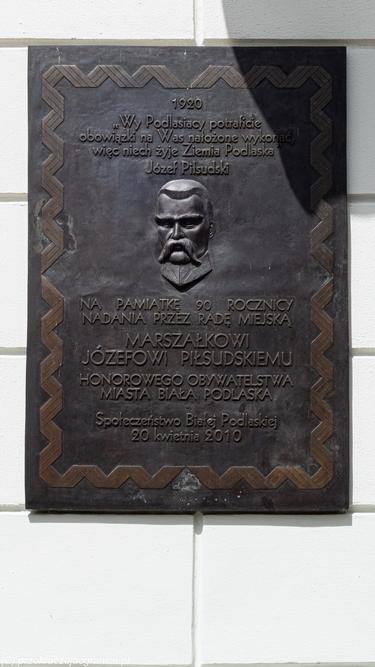 magistrat tablica pamiątkowa Piłsudski
