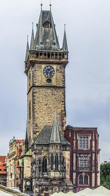 Wieża ratuszowa w stolicy Czech