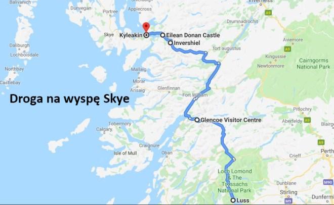 droga na wyspę skye maps