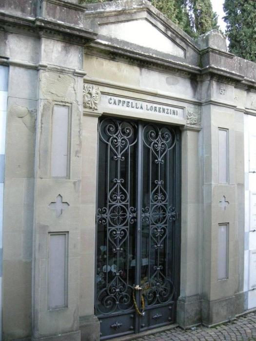 Carlo Lorenzini Collodi, kaplica cmentarz Porte Sante Florencja
