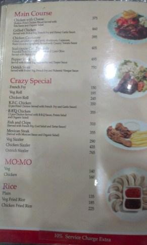 Ceny jedzenia w Nepalu, w Katmandu.