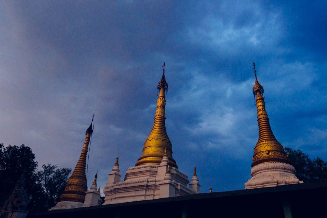 Jedna zeświątyń, wktórejspędziliśmy noc. Wskali widzianych przeznas świątyń ta jest lilipucia