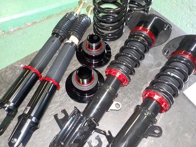 L33 日産 ティアナ ラルグスの車高調に交換 四輪アライメント調整