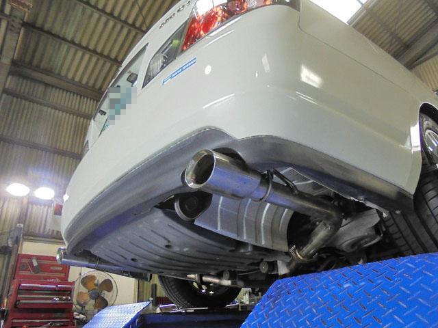 Y50 フーガ 車高調に交換 四輪アライメント調整 マフラー交換