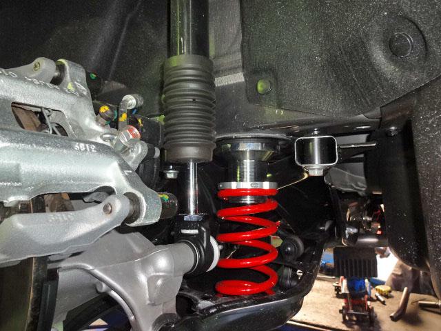 ZE4 インサイト RS-Rの車高調 車高再調整