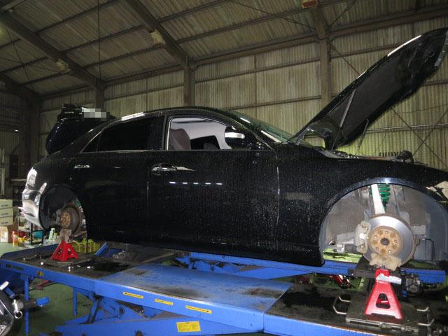 GRX120 マークX TEINの車高調に交換 四輪アライメント