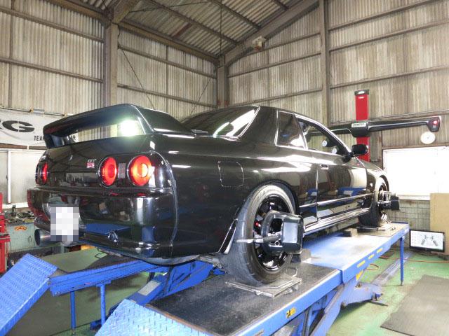 スカイライン GT-R BNR32 四輪アライメント