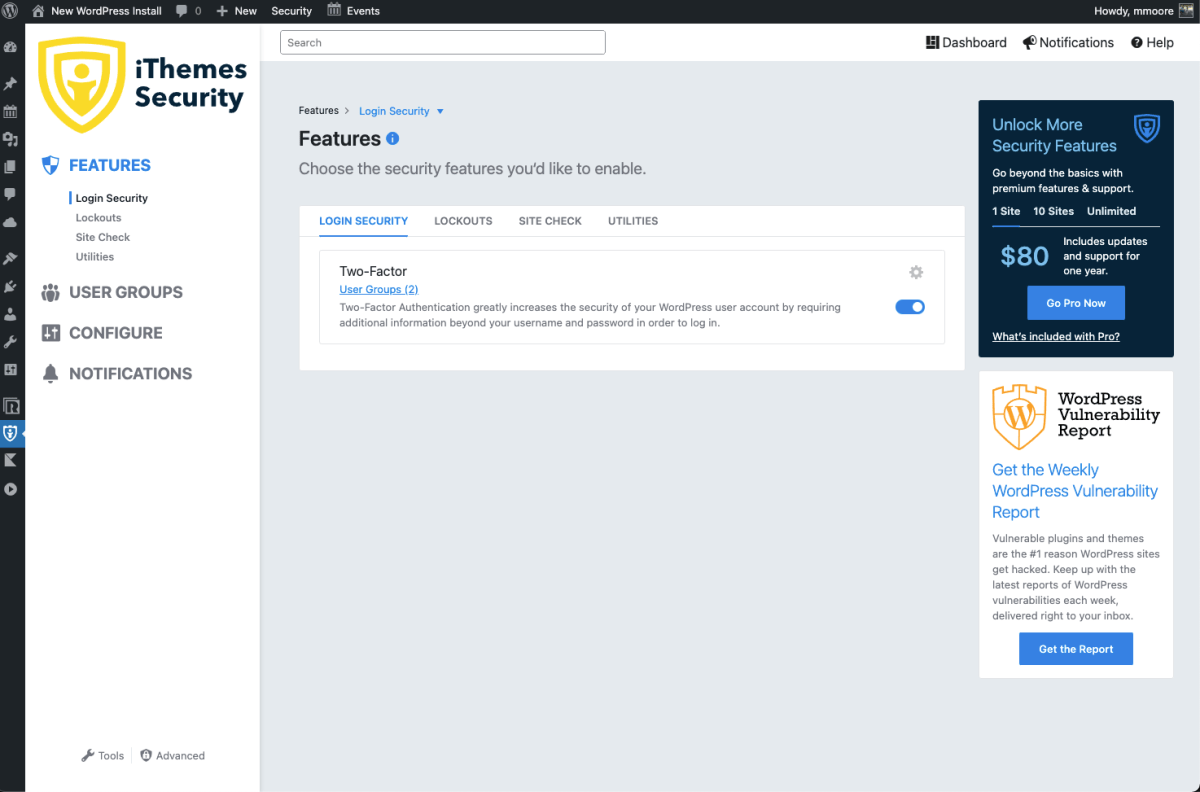 iThemes Security (formerly Better WP Security) Screenshot