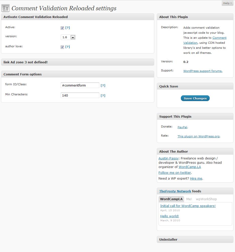 comment-validation-reloaded screenshot 1