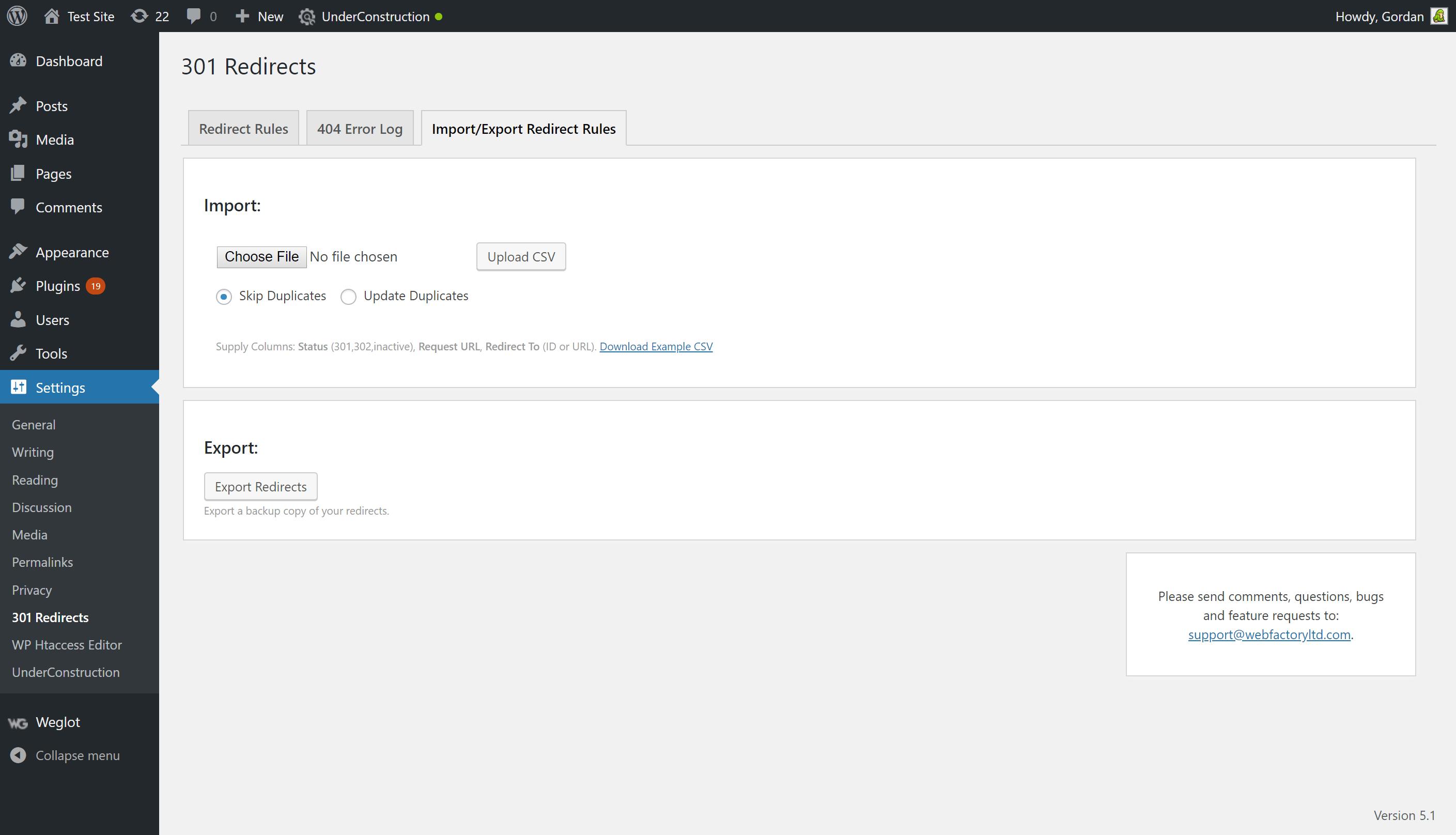Redirects Easy Redirect Manager Wordpress Plugin