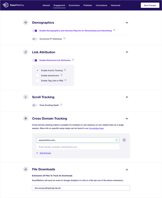 Google Analytics Dashboard for WP by ExactMetrics (formerly GADWP) Screenshot