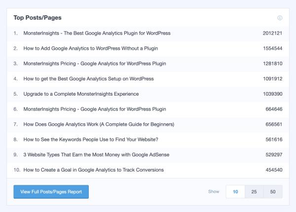 Página Configurações