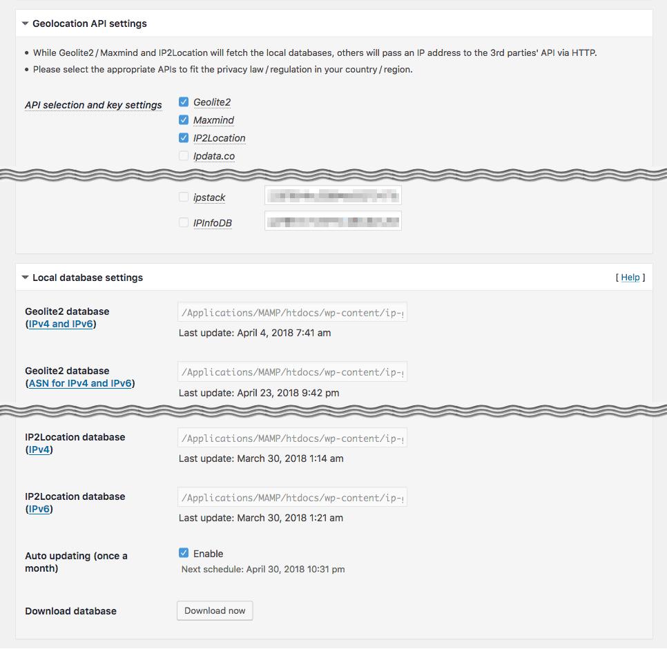 IP Geo Block Screenshot