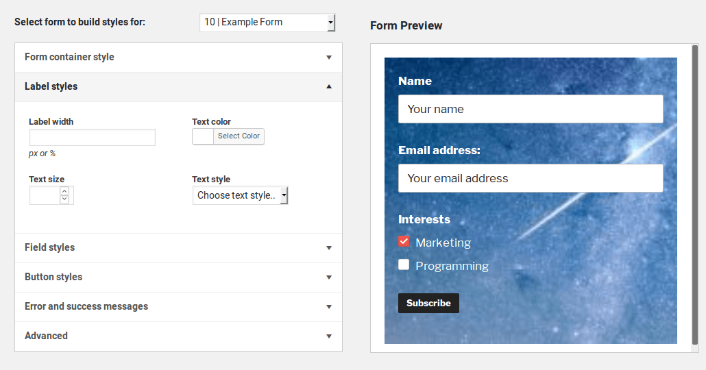 MC4WP: Mailchimp for WordPress Screenshot
