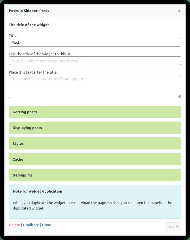 posts-in-sidebar screenshot 1