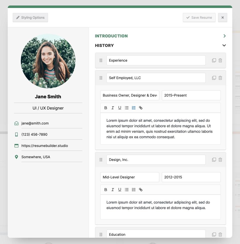 Resume Builder  WordPressorg