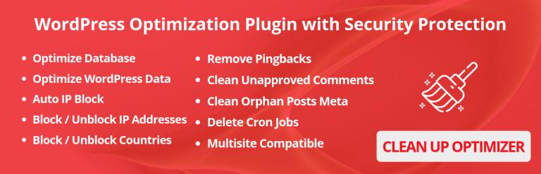 WP Clean Up Optimizer: Optimize Database & WordPress