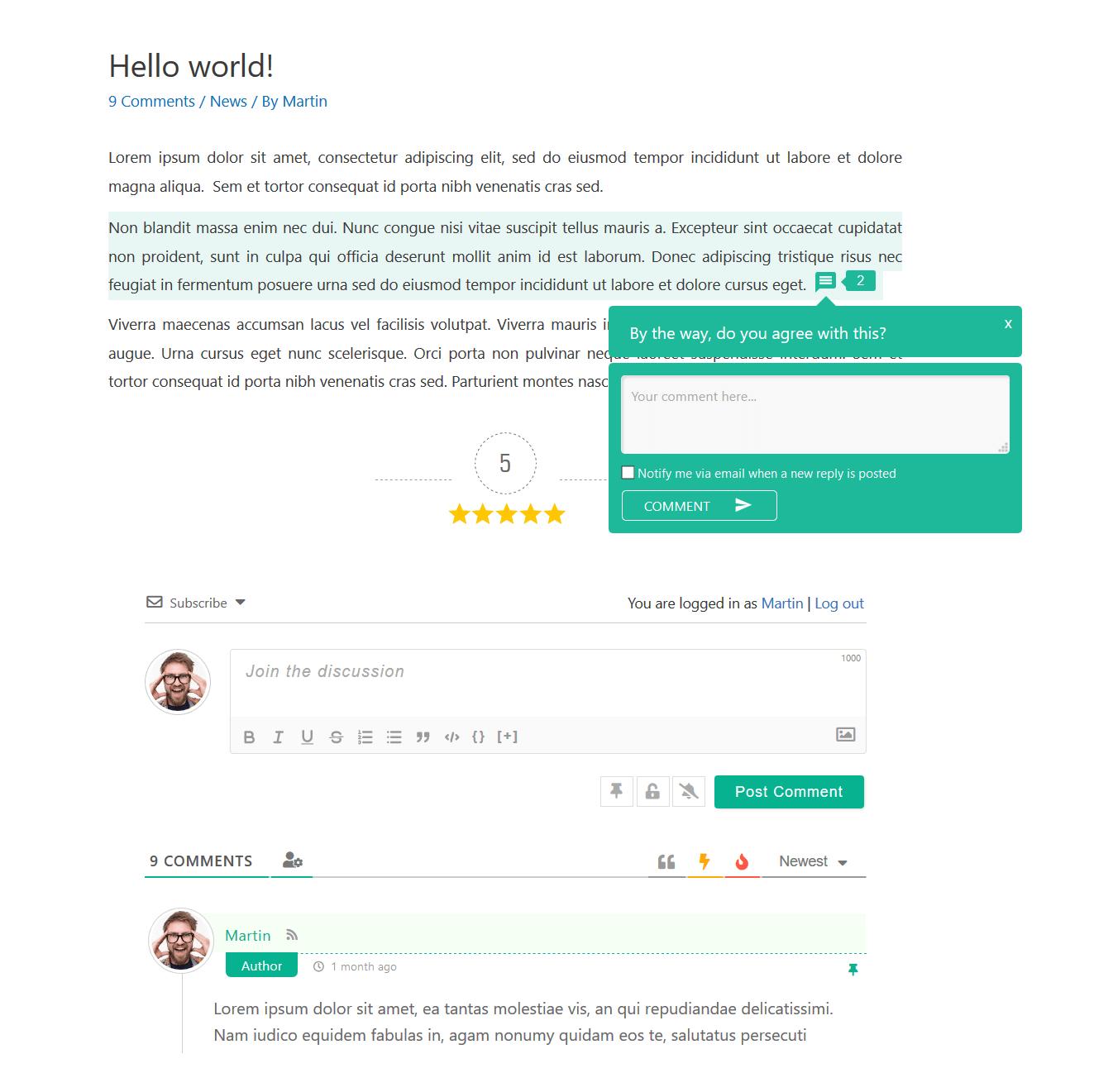 comments wpdiscuz wordpress plugin