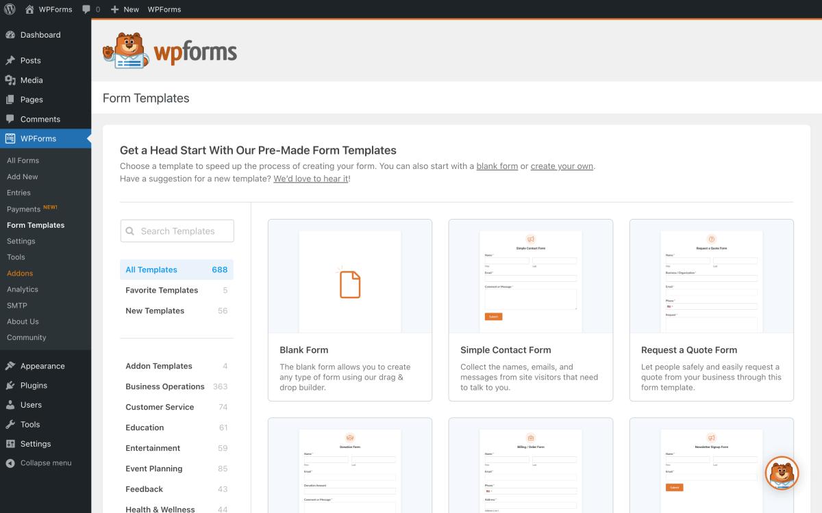 Contact Form by WPForms – Drag & Drop Form Builder for WordPress Screenshot