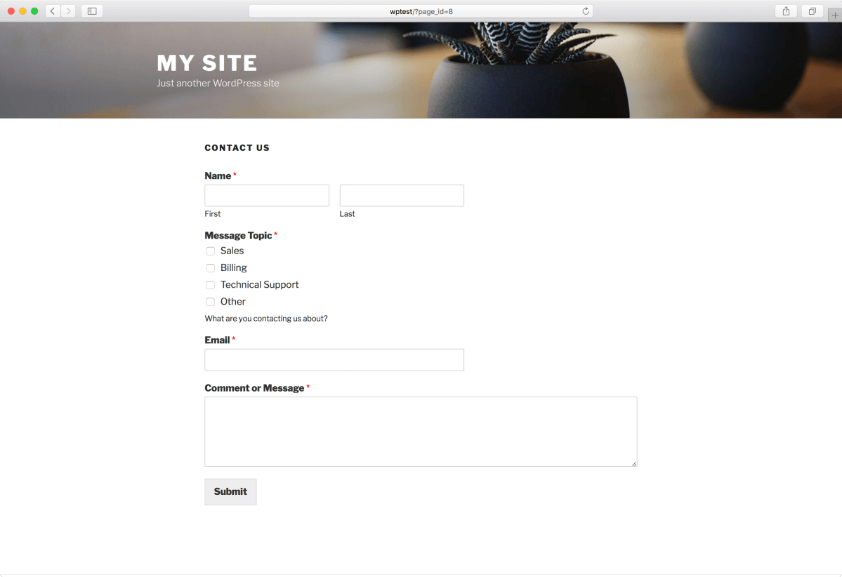 Contact Form by WPForms – Drag & Drop Form Builder for WordPress Screenshot