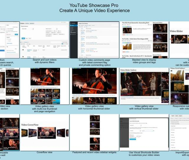 Youtube Showcase Pro Edition Offers   Faster Page Loads Many Advanced Video Managementplayer Configuration And Display Options