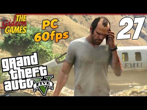 Прохождение GTA 5 с Русской озвучкой (Grand Theft Auto V)PС60fps — Часть 27 (Красная кнопка)