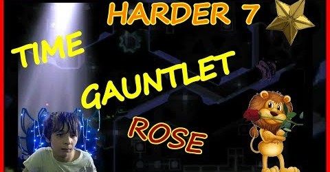 GEOMETRY DASH — TIME GAUNTLET ROSE (HARDER 7 ЗВЁЗД)