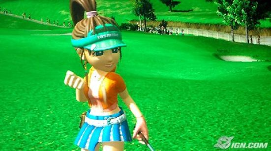 Some upskirt action in the PS3's Hot Shots Golf 5! 2