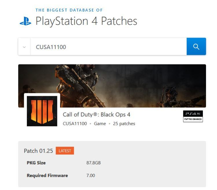 ps4 patches