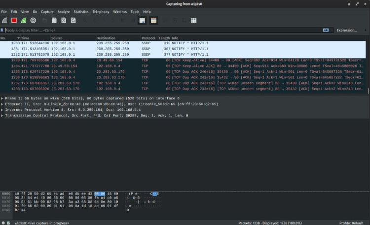 wireshark ip sniffer