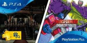 Les jeux du Playsrtation plus du mois d'octobre 2016