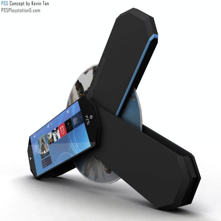 Playstation 5 Transformer portable de Kevin Tan -PS5 Design Concept (1)