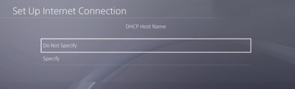 DHCH Host Name Do Not Specify