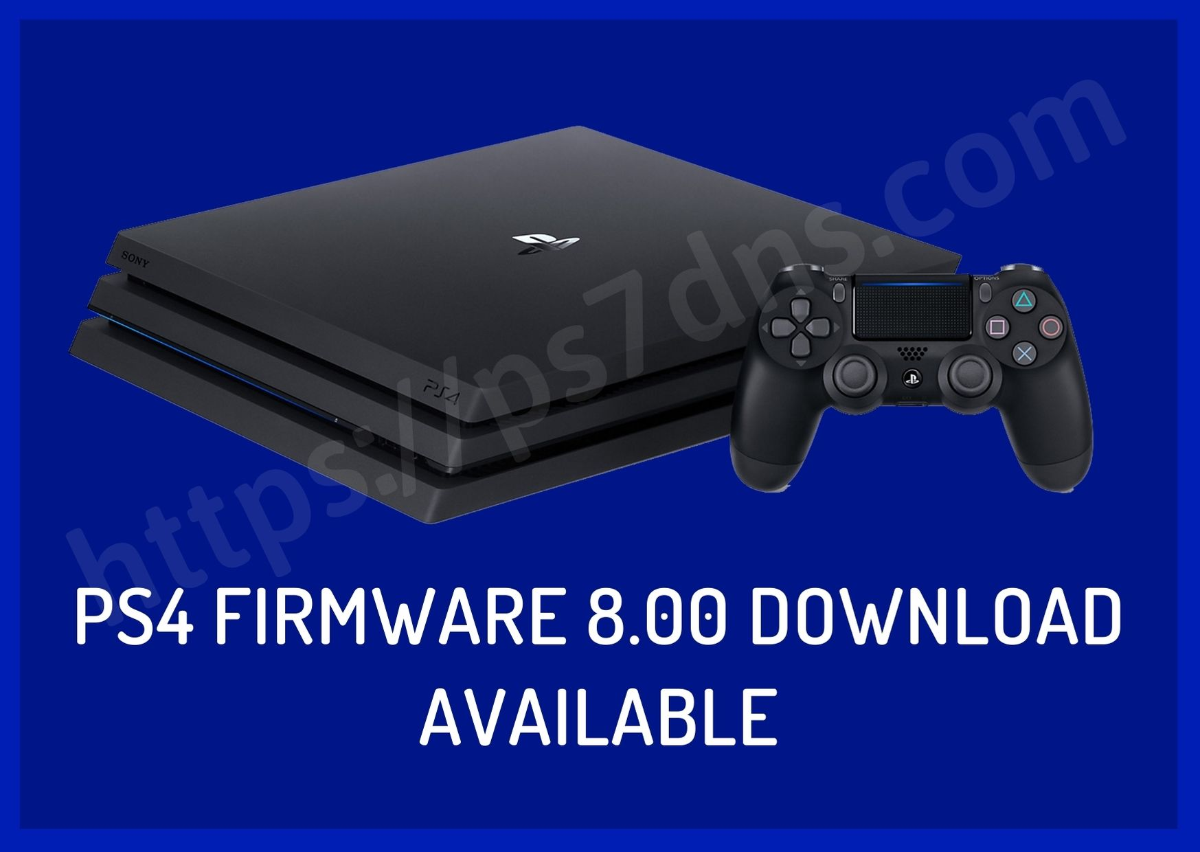 PS4 Firmware 8.00 Download Available